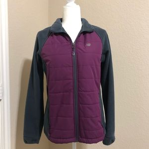 New Balance Combo Fleece/Quilted Jacket Small